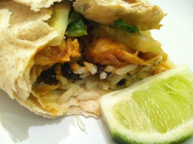 Thai Peanut Chicken Burrito