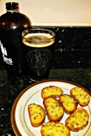 Mustard Seed & Ale Cheddar Crustinis with Highland's Cold Mountain Ale