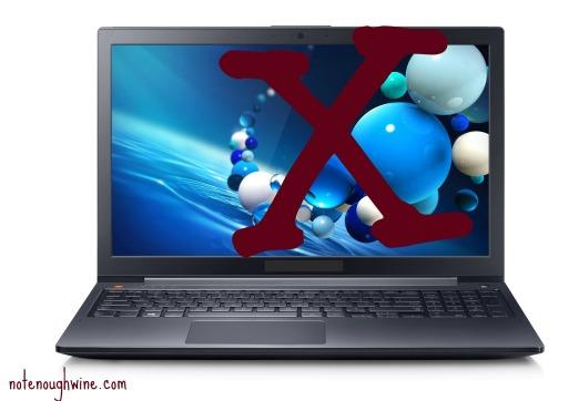 Bye-bye laptop.